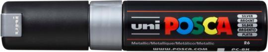Marker UNI POSCA PC-8K 8mm silber