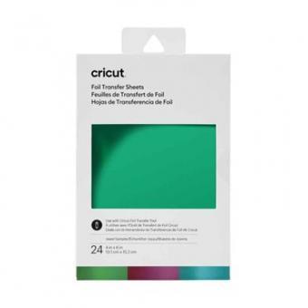 Cricut Foil Transfer Sheets Sampler 10,1 cm x 15,2 cm, Jewel Sampler