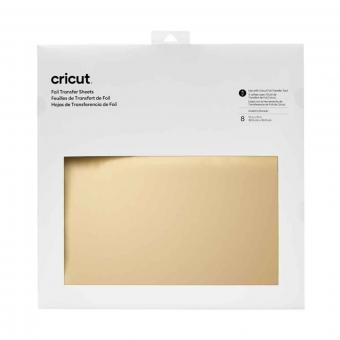 Cricut Foil Transfer Sheets Gold 30,5 cm x 30,5 cm, 12 Zoll x 12 Zoll
