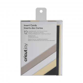 Cricut Joy Einlegekarten Neutrals, 10,7 cm x 13,9 cm, 12 St.ück