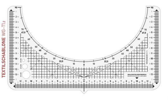 Textilschablone WG-T1.2 29 x 16 cm