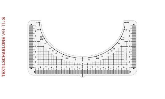 Textilschablone WG-T1.2 S 21 x 10,5 cm